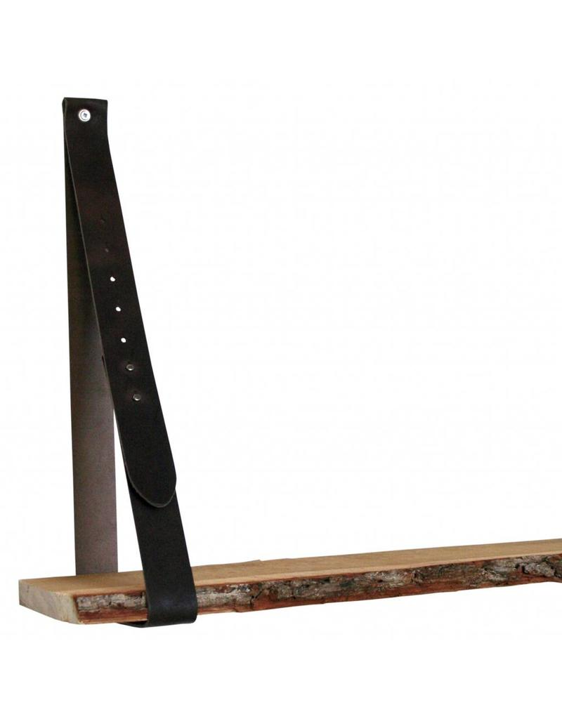 100% original Leren plankdrager donkerbruin verstelbaar (prijs per stuk)