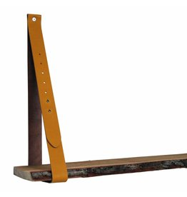 100% original leather shelf support oker yellow (price for one piece)