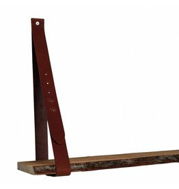 100% original Leather shelf supports cognac brown adjustable (price per piece)