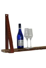 100% original Lederregalhalter cognacbraun verstellbar (Preis pro Stuck)