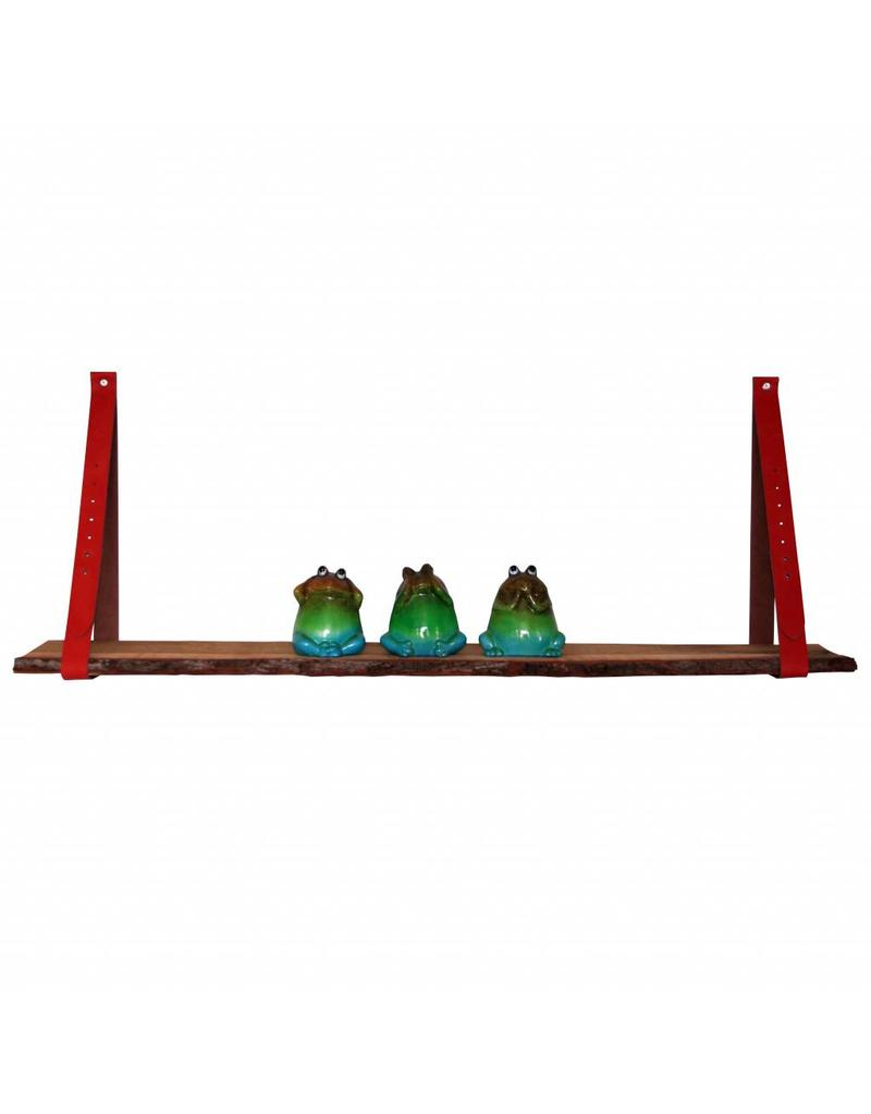100% original Leren plankendragers brick oranje/rood verstelbaar (prijs per stuk)