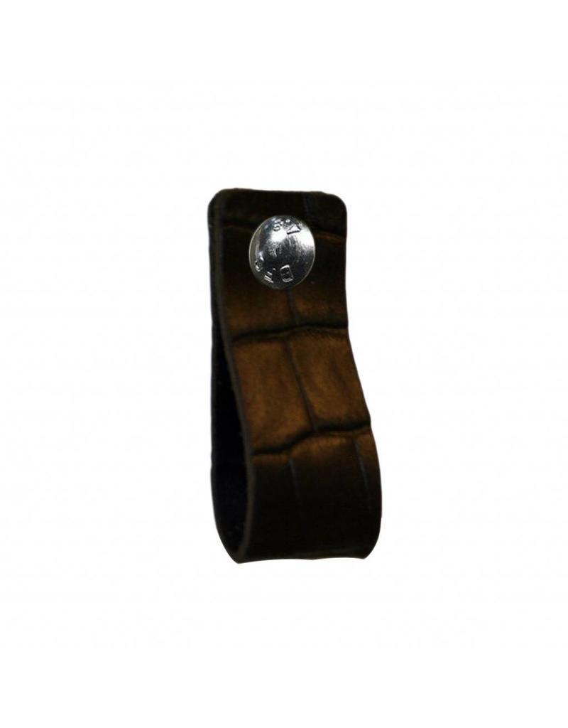100% original Leather handle black with crocodile print