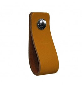 100% original Leather handle Ocher Yellow