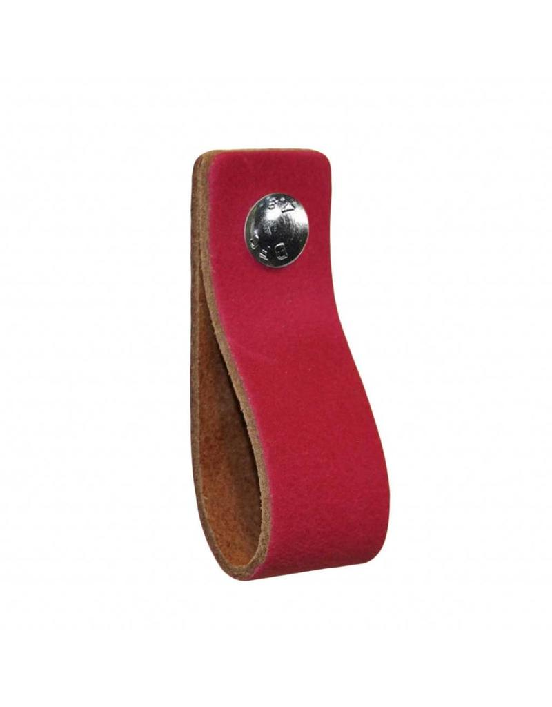 100% original Leather handle Fuchsia rosa