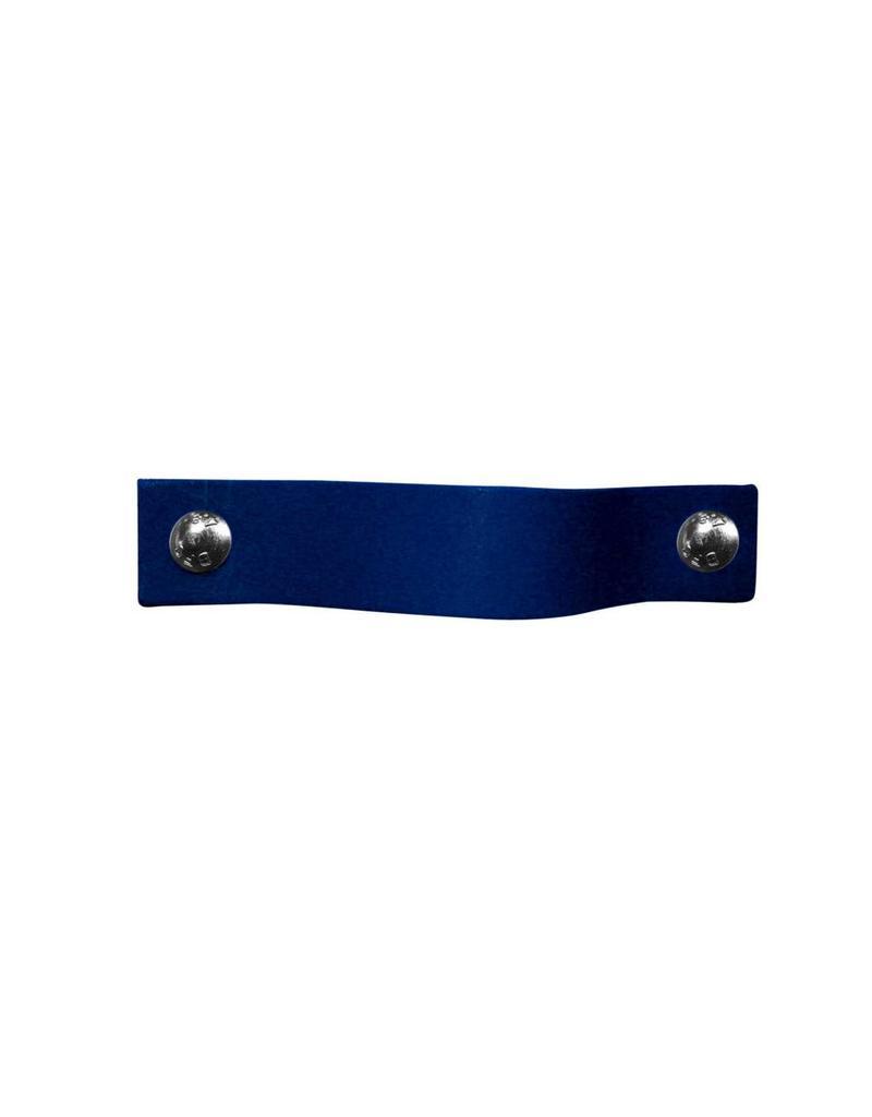 100% original Leren handgreep Cobalt blauw