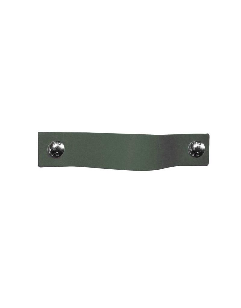 100% original Leather Pulls Lead (grey/green) XSmall 2cm wide