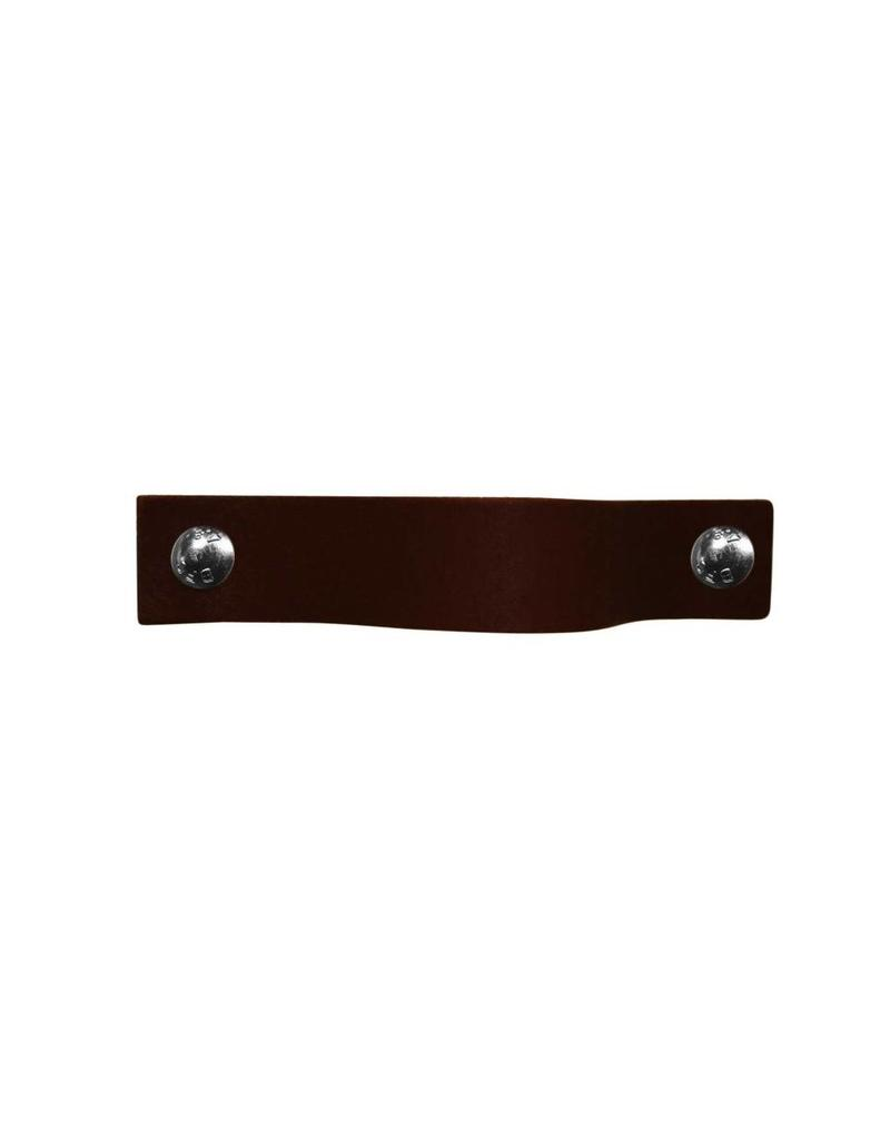 100% original Leather Pulls Dark brown XSmall 2cm wide
