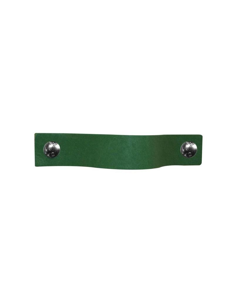 100% original Leather Pulls Green XSmall 2cm wide