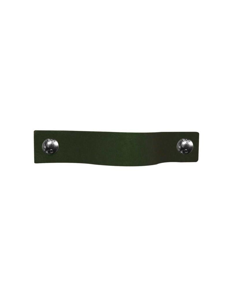 100% original Ledergriff Khakifarbenes Moosgrun MobelGriff  XSmall 2cm