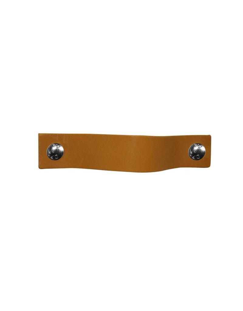 100% original Leather Pulls Ocher yellow XSmall 2cm wide