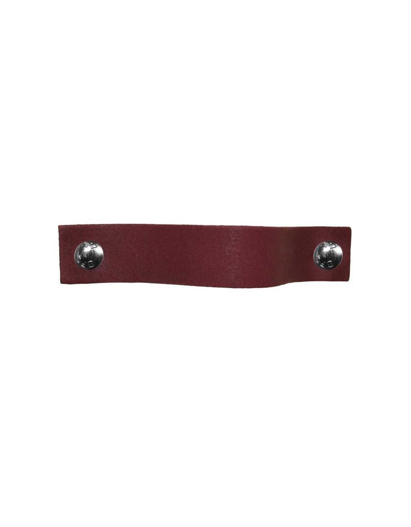 100% original Leather Pulls Purple Plum XSmall 2cm wide