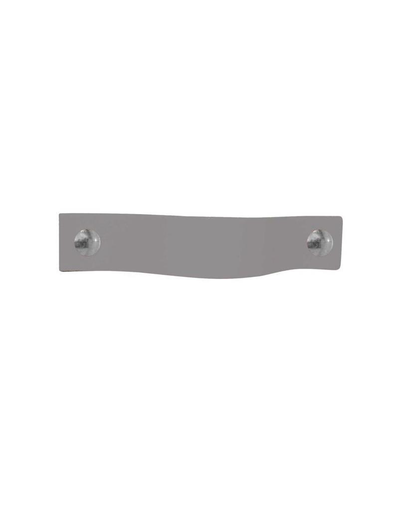 100% original Leather Pulls Ash grey-light lila XSmall 2cm wide