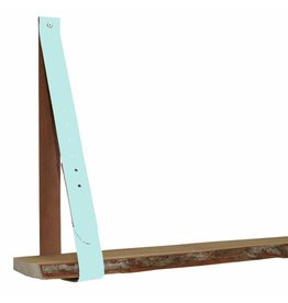100% original leather shelf support pastel aqua (price one piece)