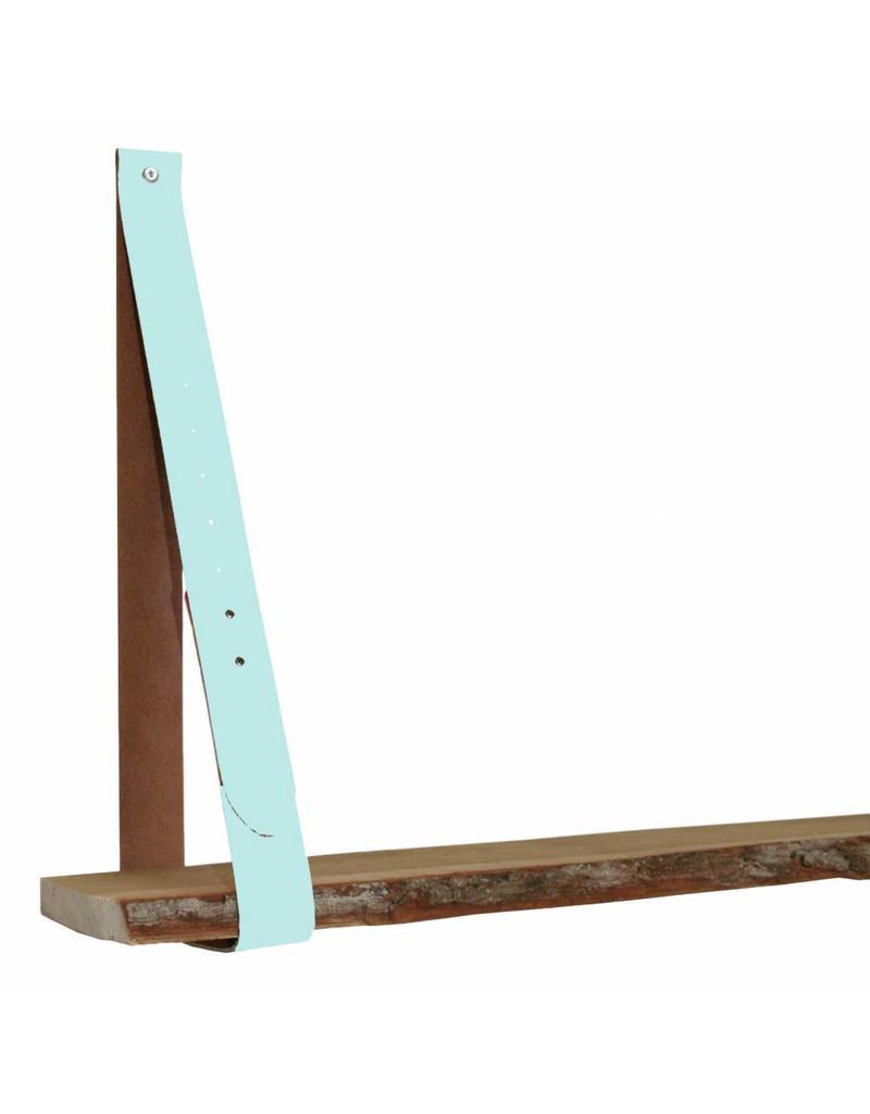 100% original leather shelf support pastel aqua (price one piece)