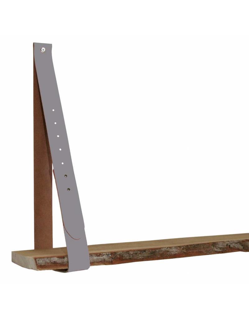 100% original Leren plankendragers ash grijs-lila verstelbaar (prijs per stuk)