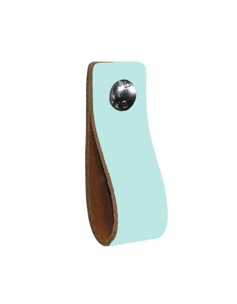 100% original Leather handle pastel aqua