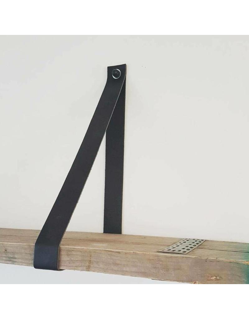 100% original Leren plankendrager   3,5cm breed per paar