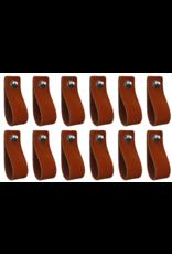 100% original Leather handle Cognac 12 pieces