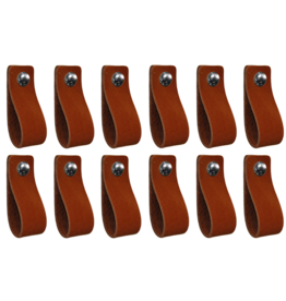 100% original Leather handle Cognac 12 pieces