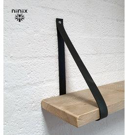 100% original 3cm width leather shelf support 2 pieces antracite