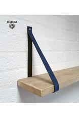 100% original 3cm breed Leren planken dragers 2 stuks blauw