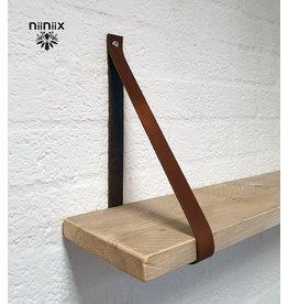 100% original 3cm width leather shelf support 2 pieces brown