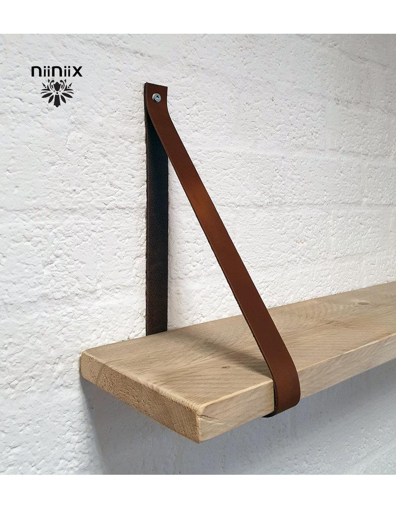 100% original 3cm breed Leren planken dragers 2 stuks bruin