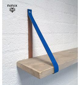 100% original 3cm breed Leren planken dragers 2 stuks cobalt