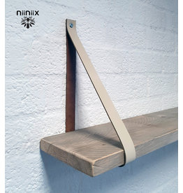 100% original 3cm breed Leren planken dragers 2 stuks creme