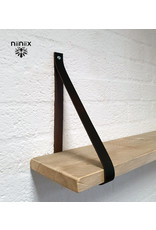 100% original leather shelf support dunkelbraun
