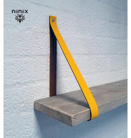 100% original 3cm breed Leren planken dragers 2 stuks geel