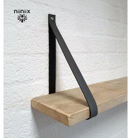 100% original 3cm breed Leren planken dragers 2 stuks grijs