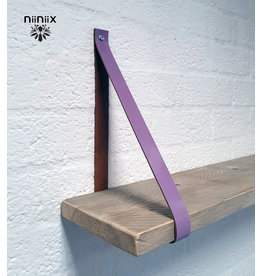 100% original 3cm width leather shelf support 2 pieces lavender