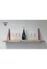 100% original 3cm breed Leren planken dragers 2 stuks lavendel