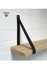 100% original leather shelf support navy