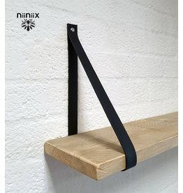 100% original 3cm width leather shelf support 2 pieces navy