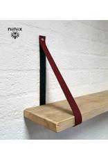 100% original 3cm breed Leren planken dragers 2 stuks plum