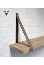 100% original 3cm breed Leren planken dragers 2 stuks taupe