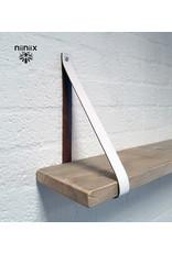 100% original 3cm breed Leren planken dragers 2 stuks wit