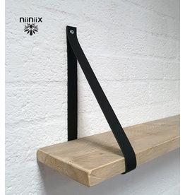 100% original 3cm breed Leren planken dragers 2 stuks zwart