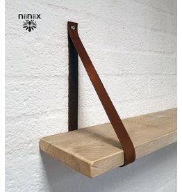 100% original 3,5cm breed Leren planken dragers 2 stuks bruin