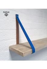 100% original 3,5cm breed Leren planken dragers 2 stuks cobalt