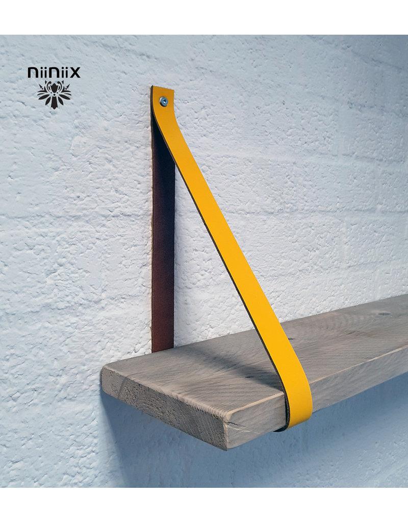 100% original 3,5cm breed Leren planken dragers 2 stuks geel