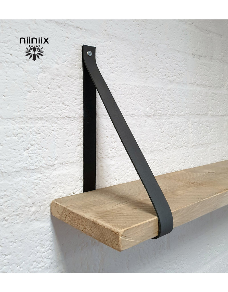 100% original 3,5cm breed Leren planken dragers 2 stuks grijs