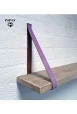 100% original 3,5cm breed Leren planken dragers 2 stuks lavendel