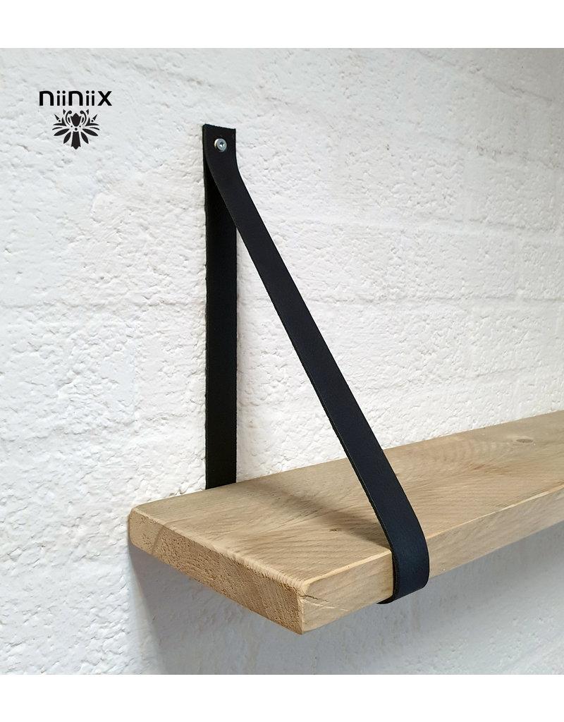 100% original 3,5cm breed Leren planken dragers 2 stuks navy