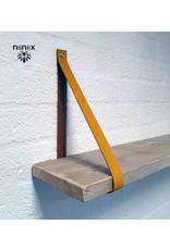100% original leather shelf support ocher yellow