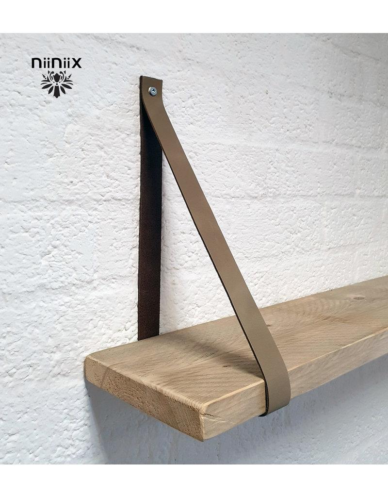 100% original 3,5cm breed Leren planken dragers 2 stuks taupe