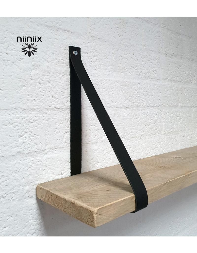 100% original 3,5cm breed Leren planken dragers 2 stuks zwart