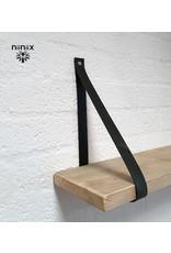 100% original 4cm breed Leren planken dragers 2 stuks antraciet